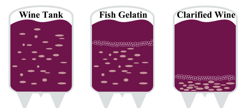 how does fish gelatin to do in wine